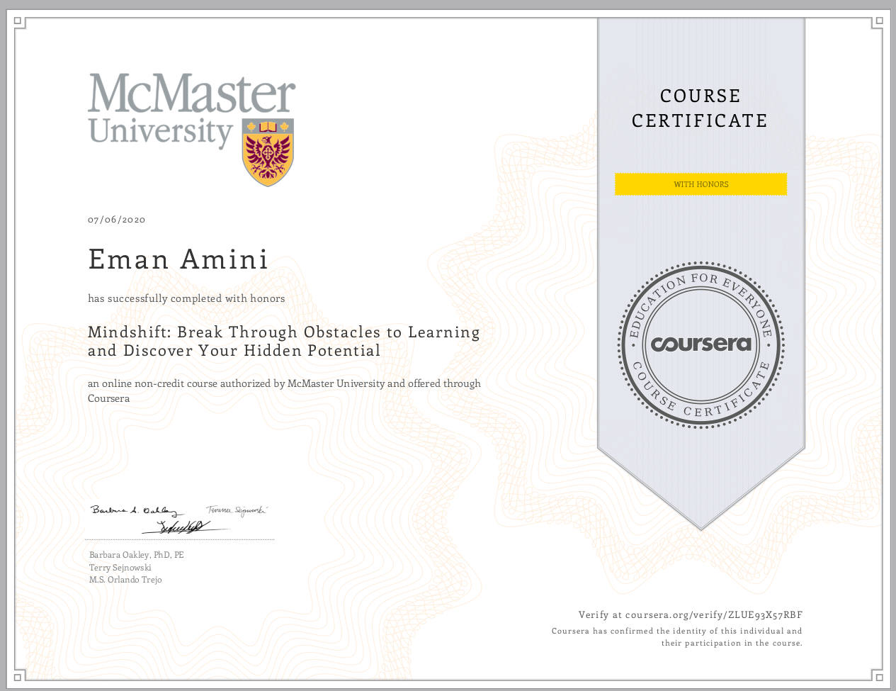 Coursera-Mindshift